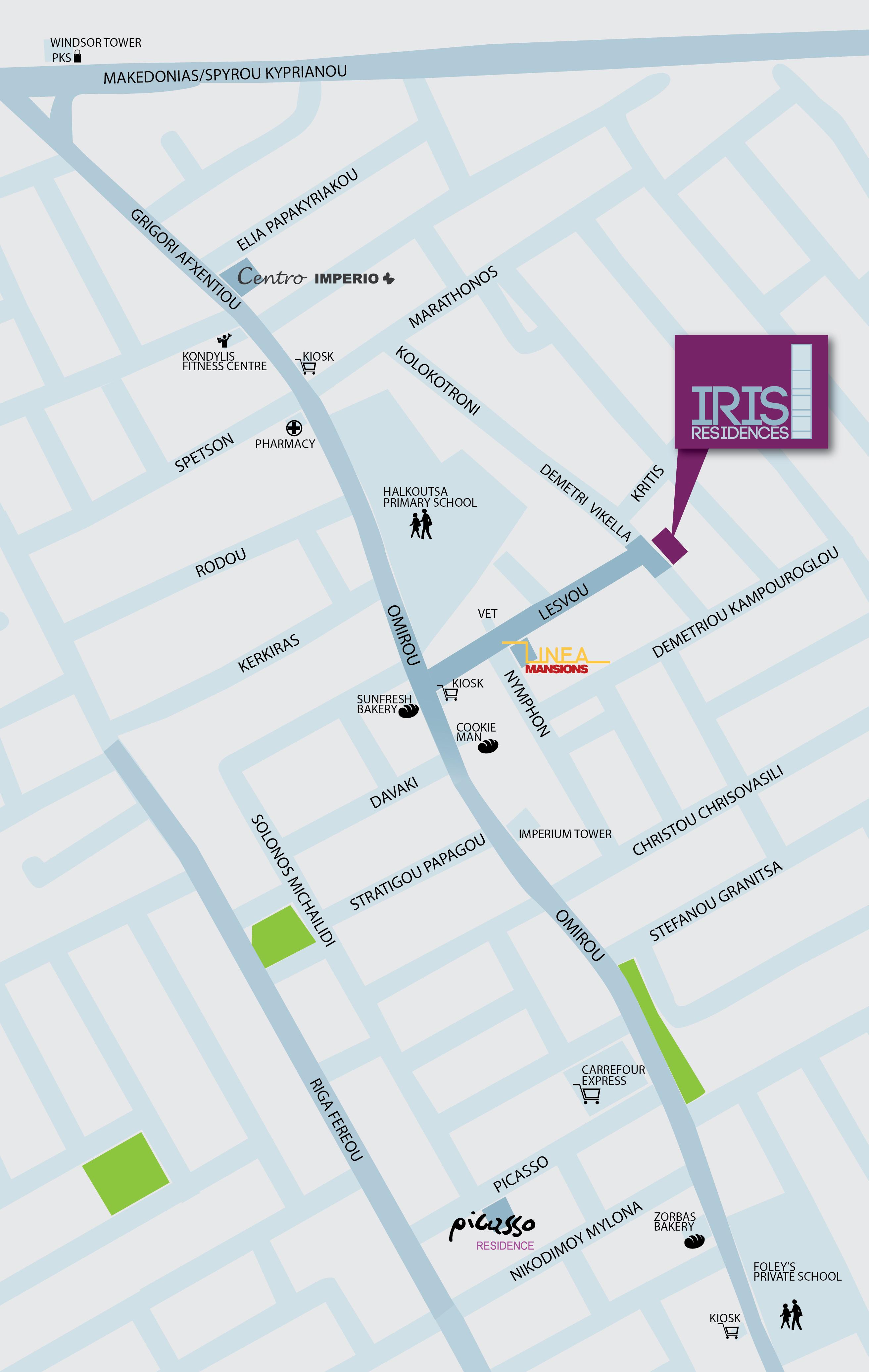 Iris Residences Map