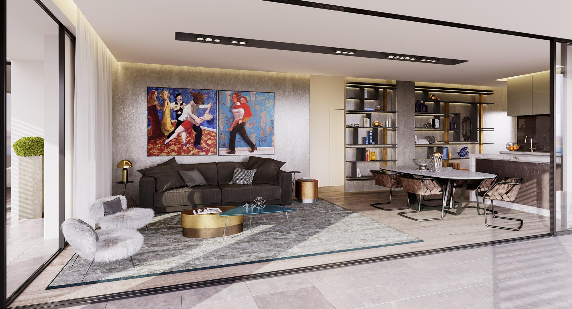 Living room - A301 Levante Residences
