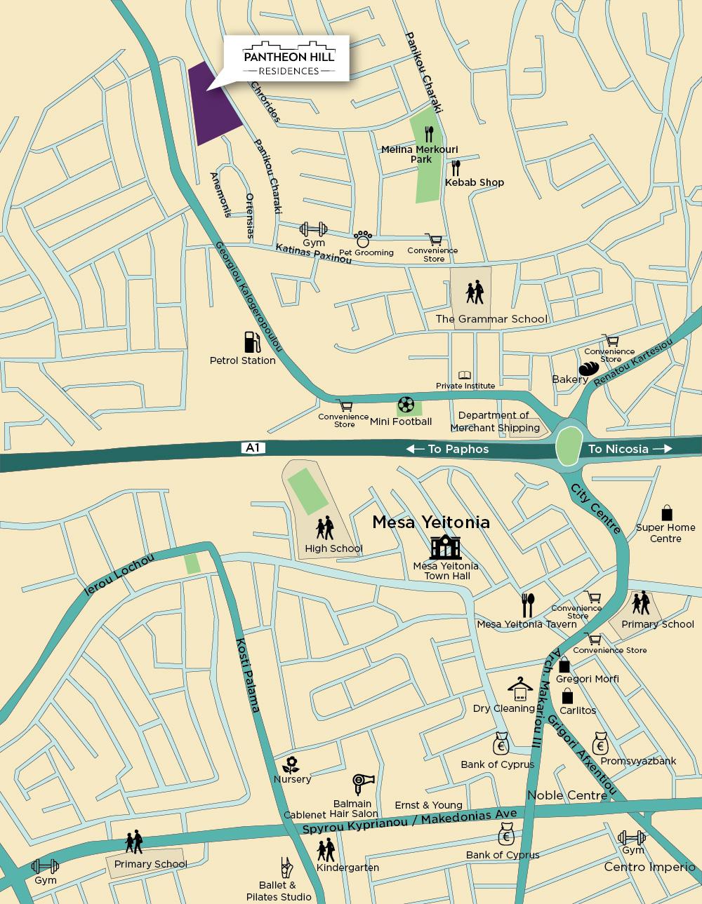 Pantheon Hill Residences Map