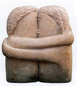 The Kiss (1908) by Constantin Brâncuși