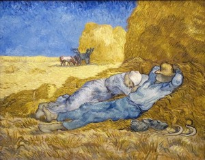 The siesta (after Millet) (1890) by Vicent van Gogh