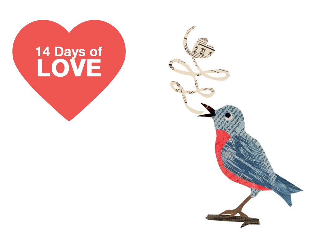 14 days of valentines love songs