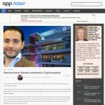 opp.TODAY - Sanctions boost Russian investment in Cypriot property 12.01.2015 - Article