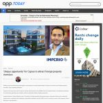 opp.TODAY - 'Unique opportunity' for Cyprus to attract foreign property investors 24.04.2015 - Article