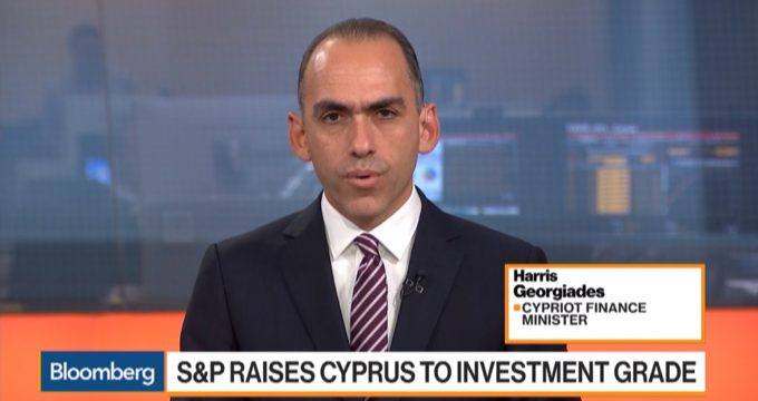 Harris Georgiades on Bloomberg - S&P Raises Cyprus to Investment Grade