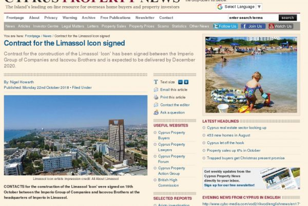 theicon, limassolicon, cyprus, propertynews, contracticonsigned, imperioproperties, imperio, imperiogroup, december2020