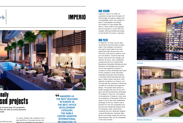 economytoday, imperio, imperioproperties, coverstory, icon, theicon, imperioprojects, thegoldenlistofrealestate2019, developers, limassol, cyprus