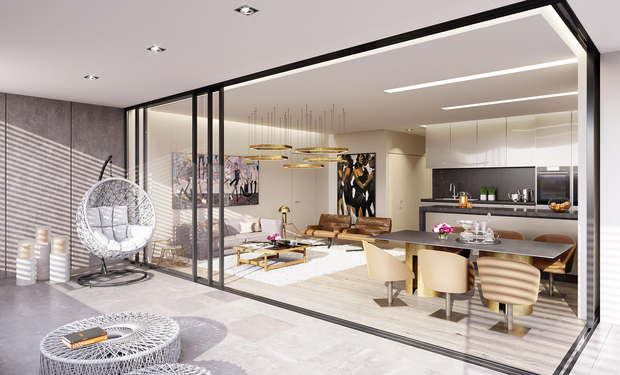 Living room - B302 Levante Residences