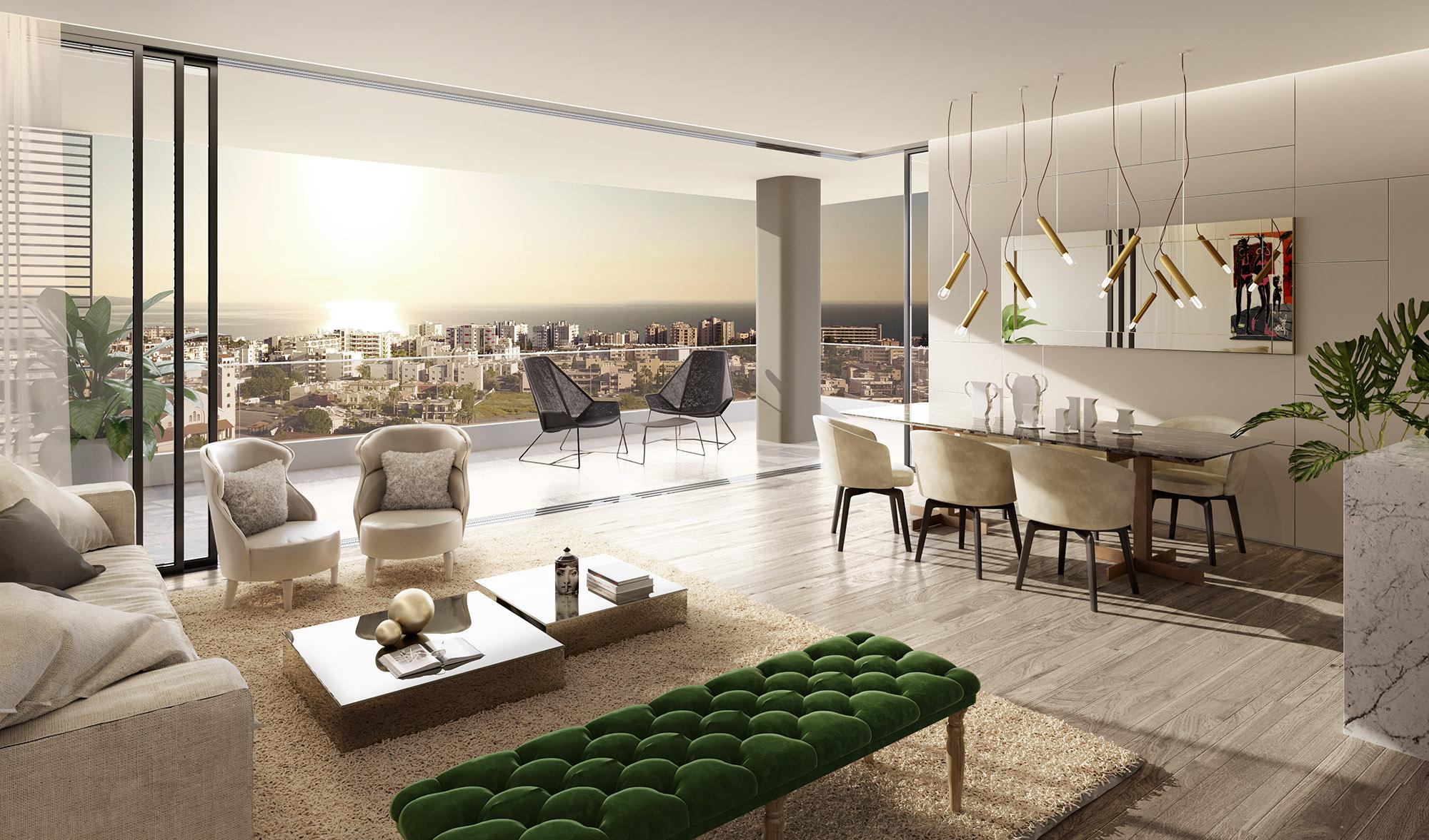 Living room - B401 Levante Residences