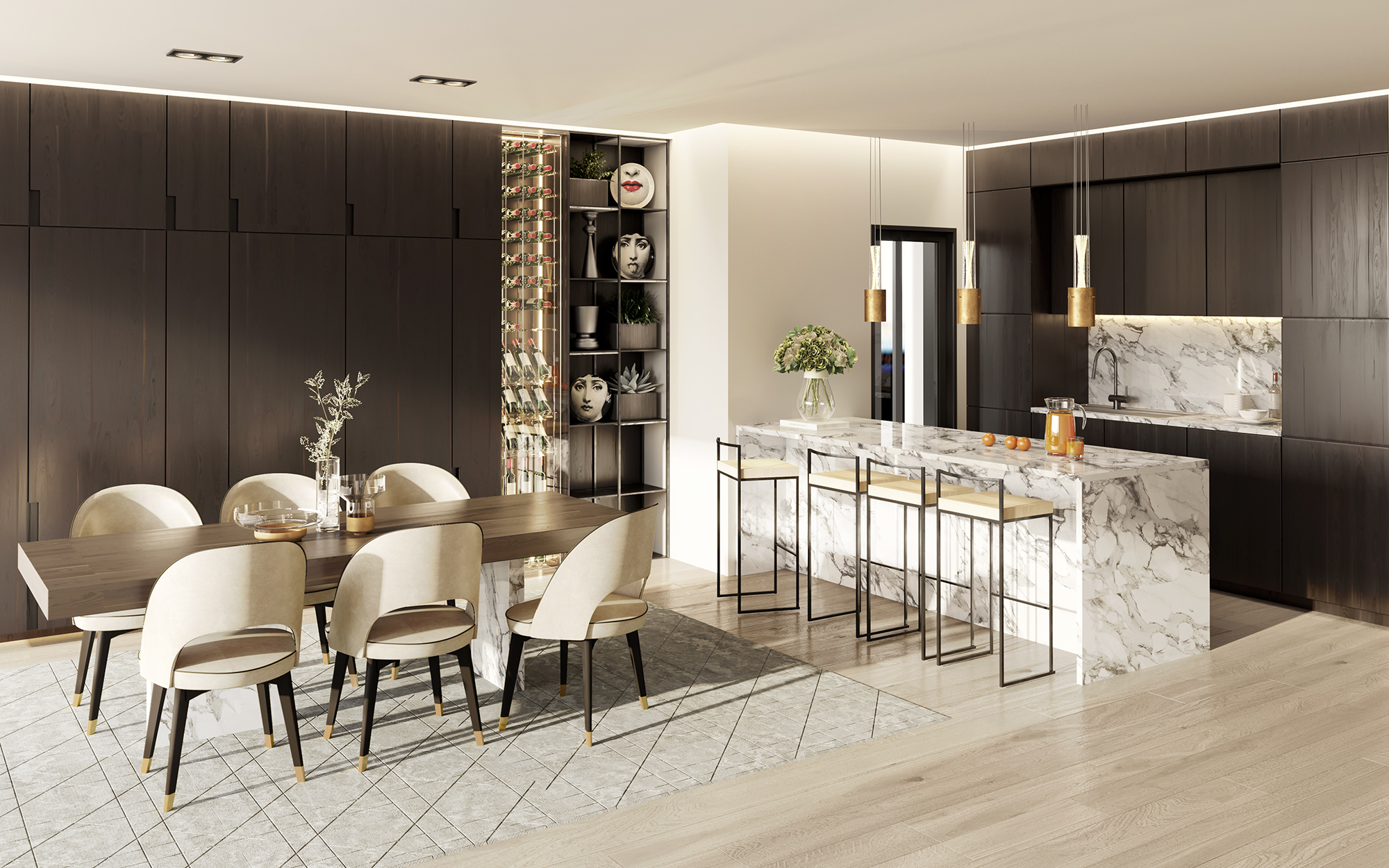 Residence 301 - Jasmine Residences by Imperio Properties with Fornasetti plates and vases