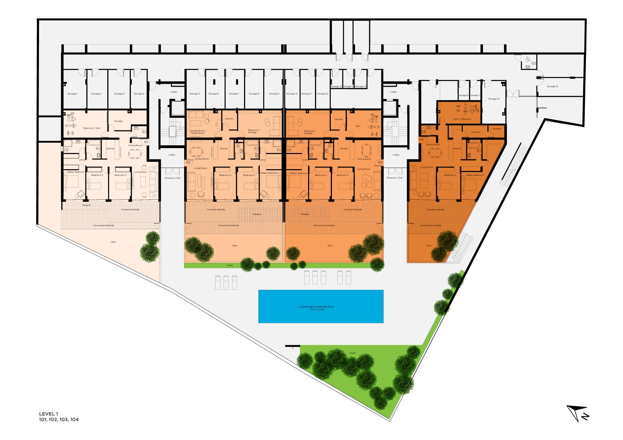 Pantheon Hill Level 1 Floorplan