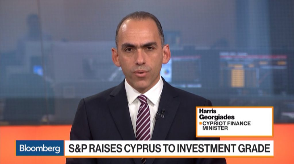 Harris Georgiades on Bloomberg - S&P Raises Cyprus to Investment Grade